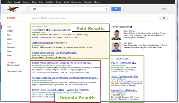 SEO 101 Screen Capture