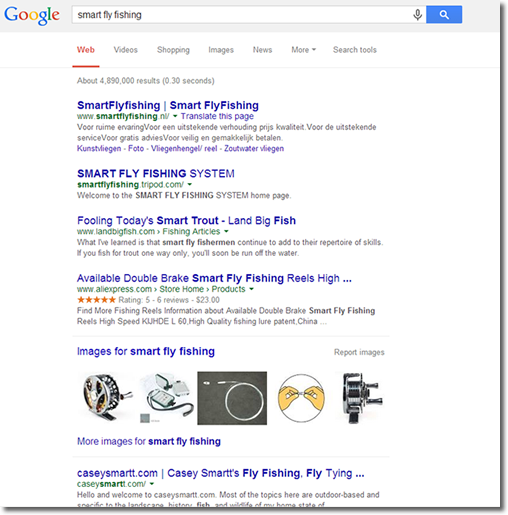 smart fly fishing google results